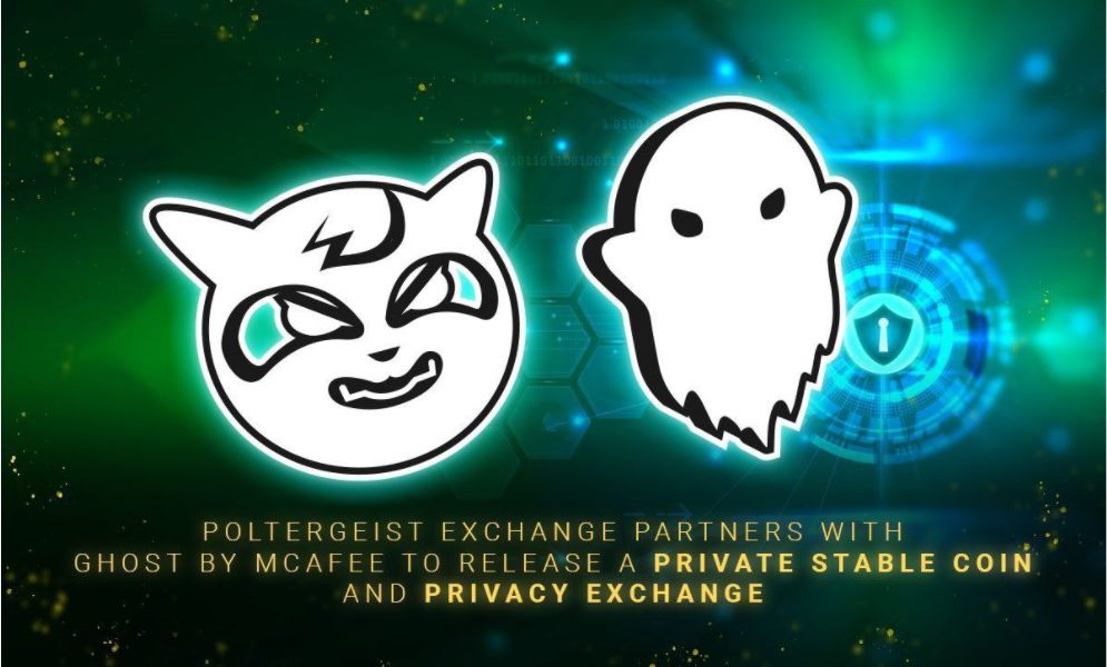 Poltergeist exchange partners with ghost by McAfee to release a private stablecoin and privacy exchange - AMBCrypto
